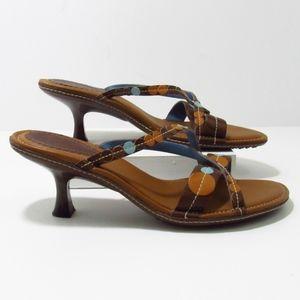 Indigo Leather Sandals 10M